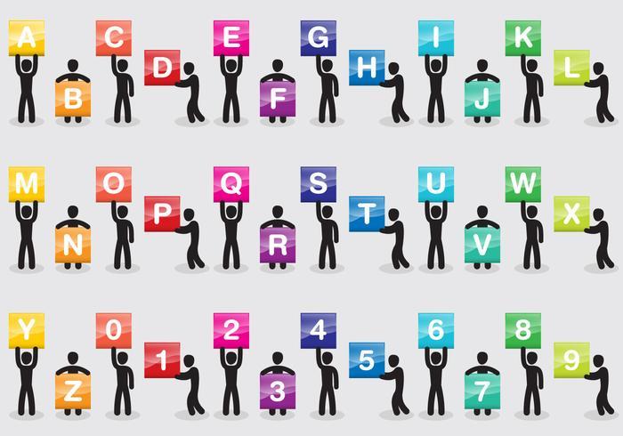 Man Icon Type Vectors