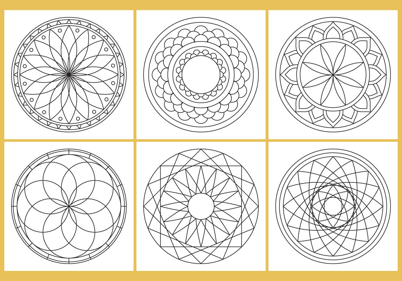 Coloring Mandala Page Vectors
