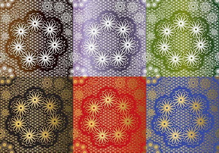 Set Lace Texture Vectors