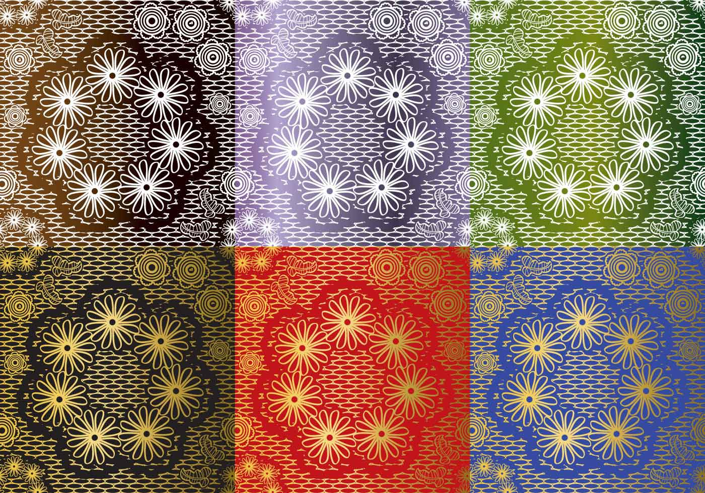 Set Lace Texture Vectors Download Free Vectors Clipart