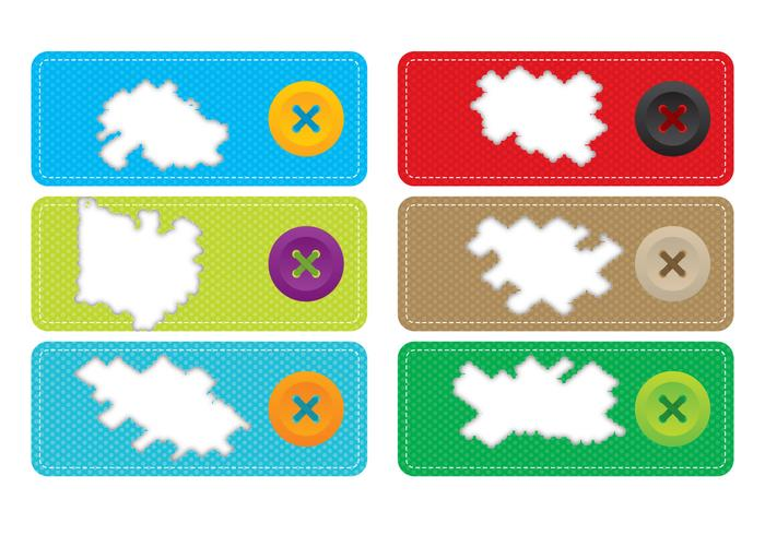 Torn Fabric Label Vectors