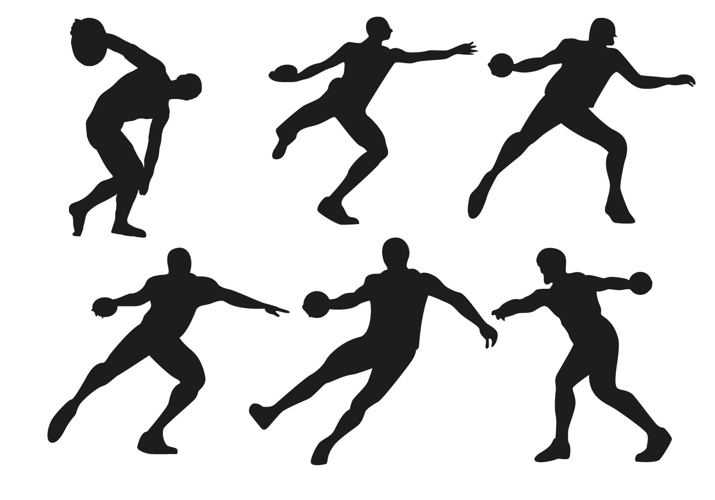 Discus thrower silhouette Clipart | k43555435 | Fotosearch |Discus Thrower Silhouette