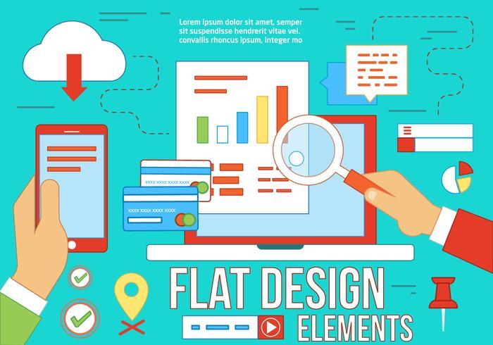 Elementos vetoriais gratuitos de design plano