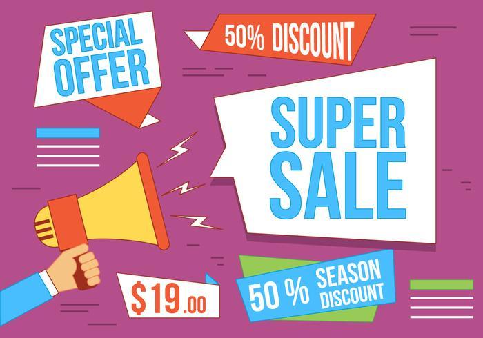Free Vector Super Sale Illustration