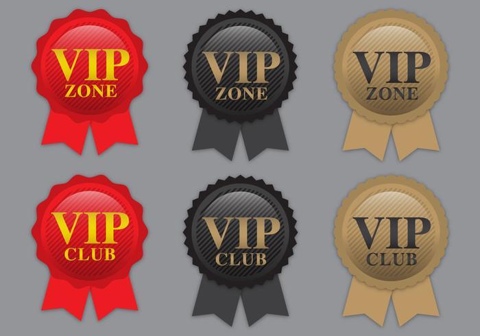 VIP-Farbband-Vektoren