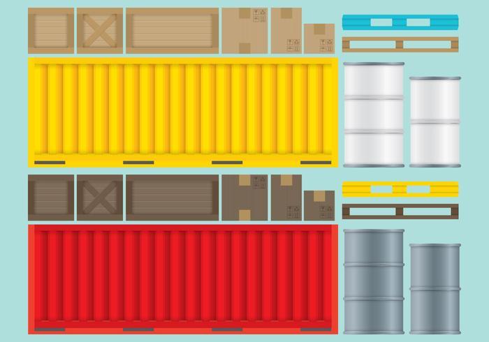 Crates Boxes E Containers.ai vetor