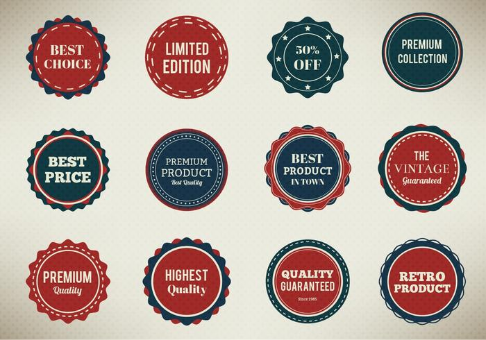 Gratis Vector Badges Set