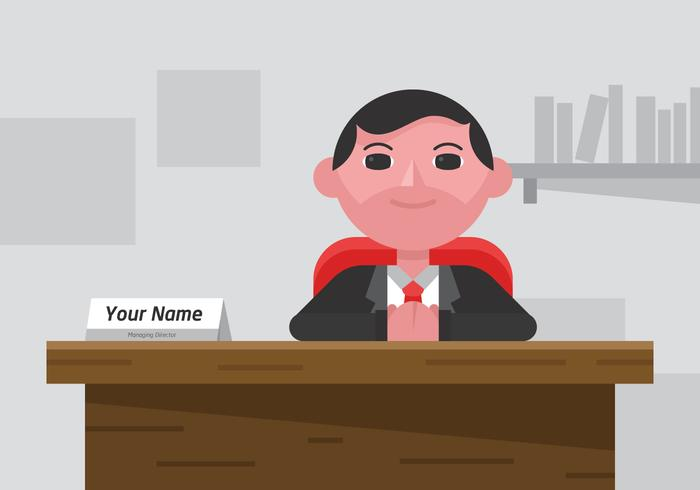 Vector Name Plate for Man