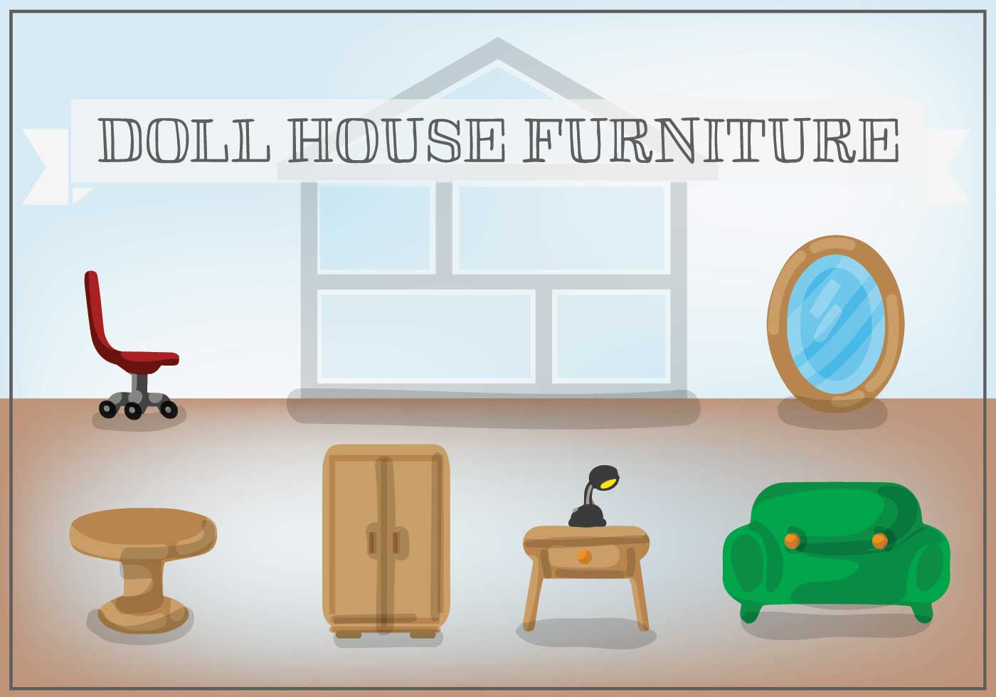 Free Doll House Furniture Vector Download Free Vector Art Stock