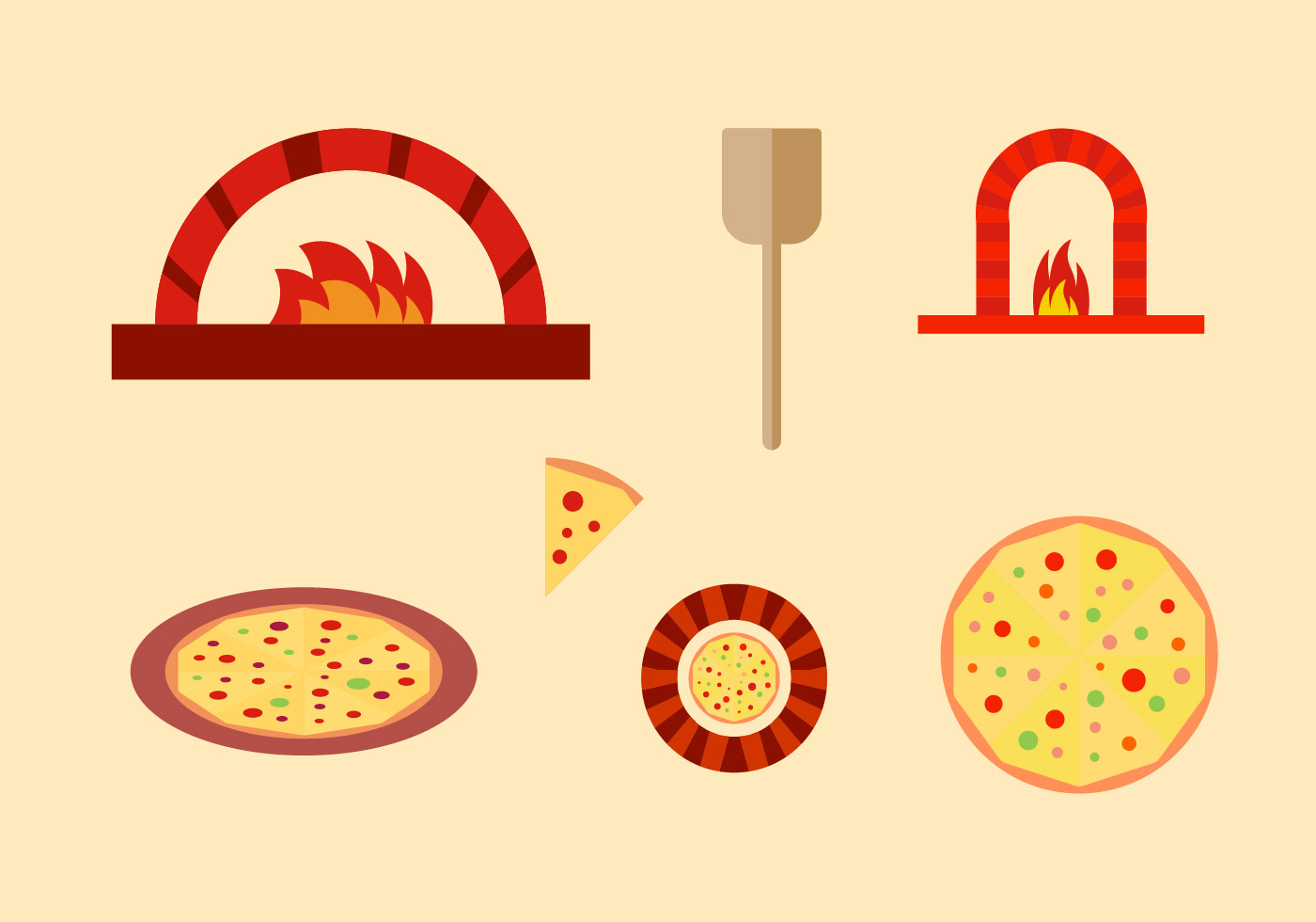 Free Pizza Vector Pack - Download Free Vector Art, Stock ...