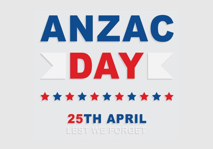 Anzac Typography Background Vector