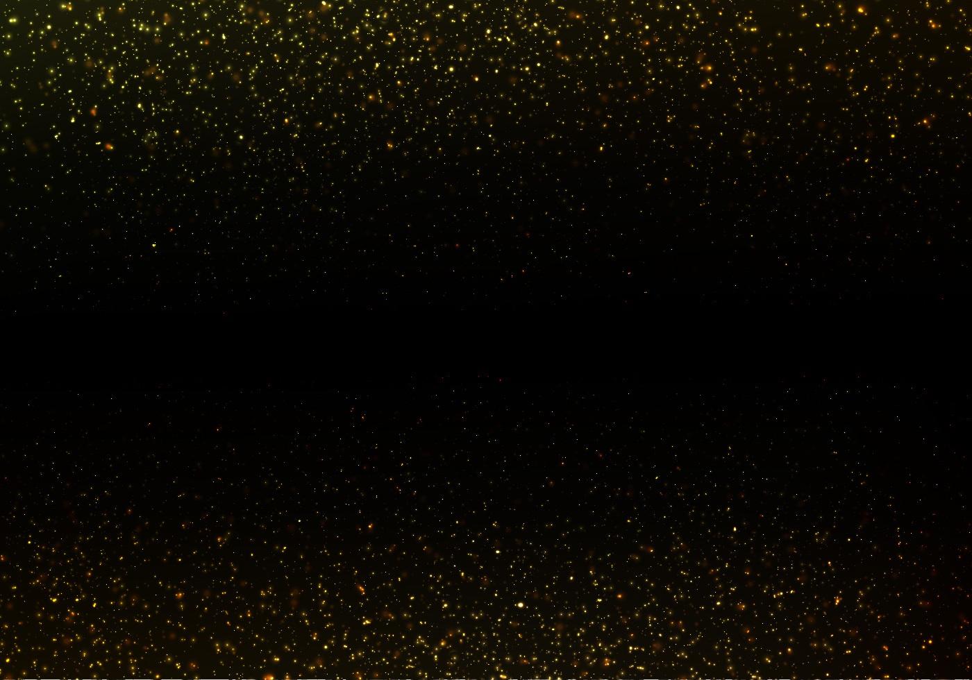 strass vector gold glitter texture on black background