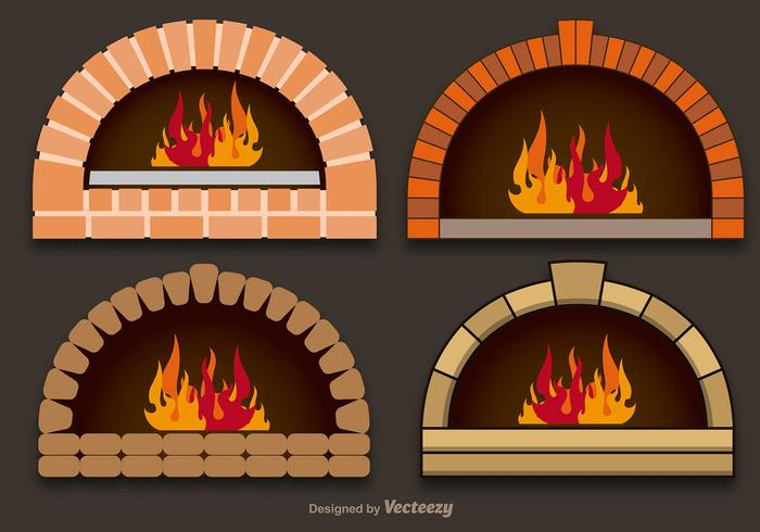 Vector pizza ovens