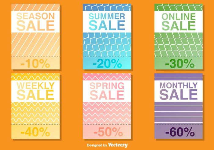 Seasonal Sale Poster Vector Templates