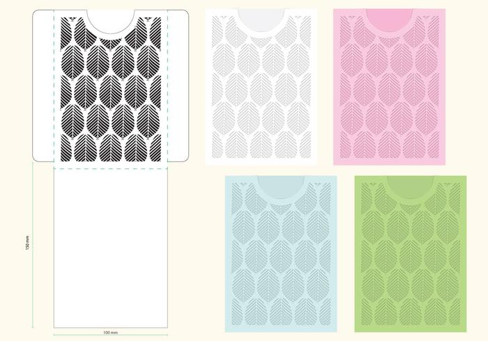 Laser Cut Organic Envelope Template  Download Free Vector Art