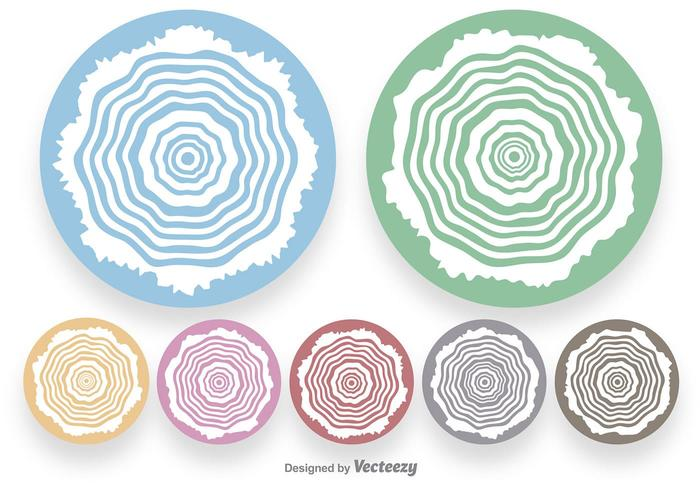 White Tree Rings Shapes