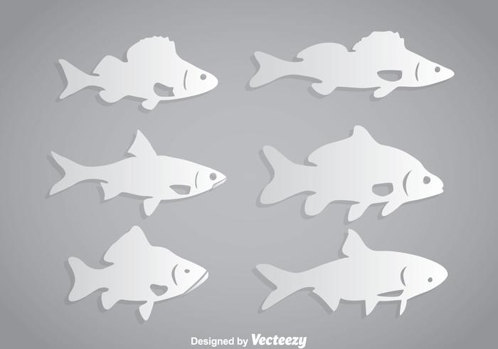 Fish White Vector