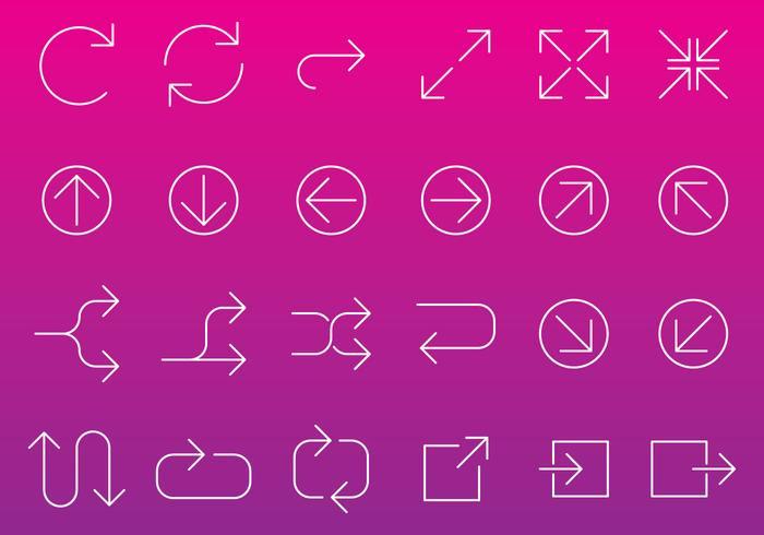 Line Arrow Icon Vectors