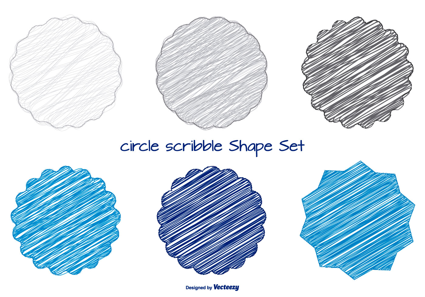 Scribble Drawing Question : Fun scribble shapes set download free vector art stock