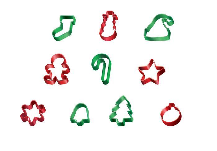 Free Christmas Cookie Cutter Vector