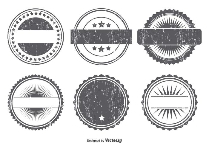 Grunge Badge Form Set vektor