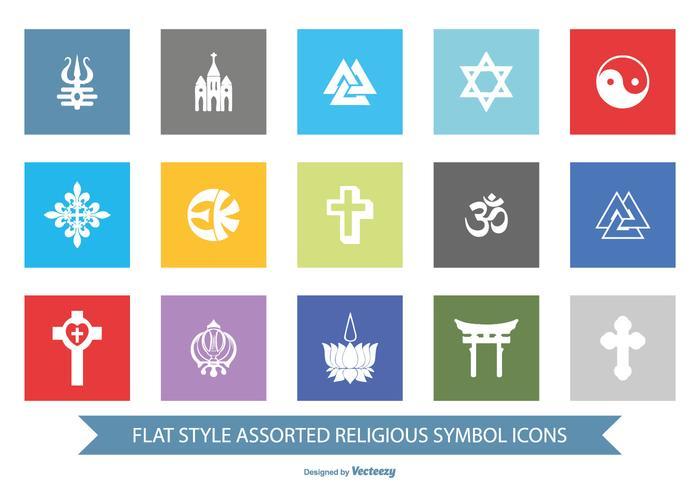 Religiöses Symbol Icon Set