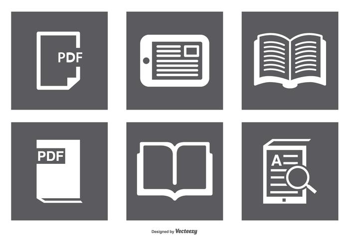 Boek, Ereader Icon Set