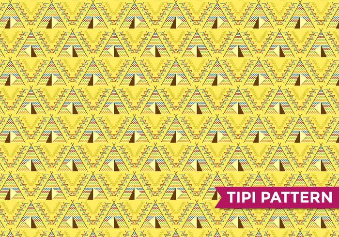 Tipi Indian Pattern Vector