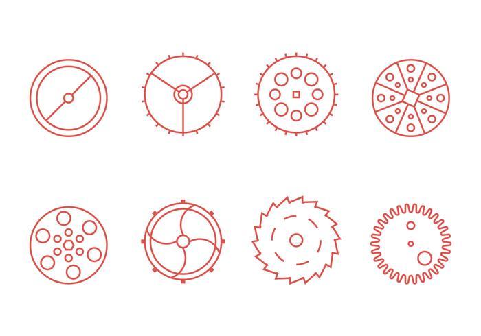 Reloj libre de piezas de gráficos vectoriales 3