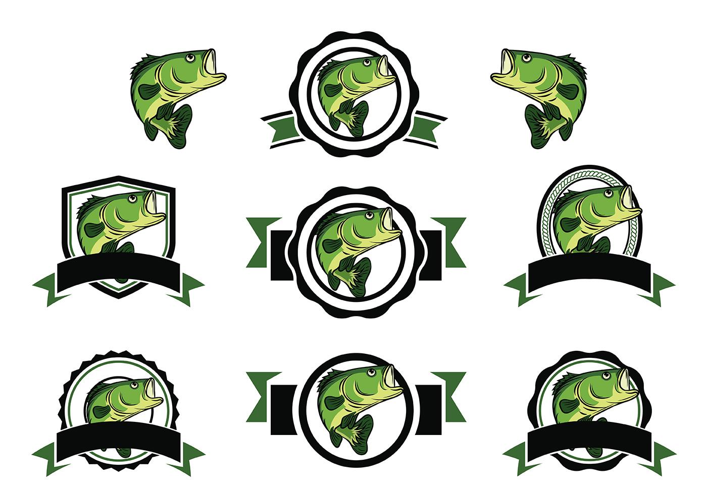 Free bass fish vector download free vector art stock for Bass fishing logos