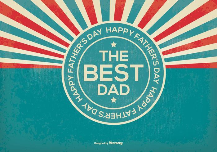 Rétros Illustration du jour du père