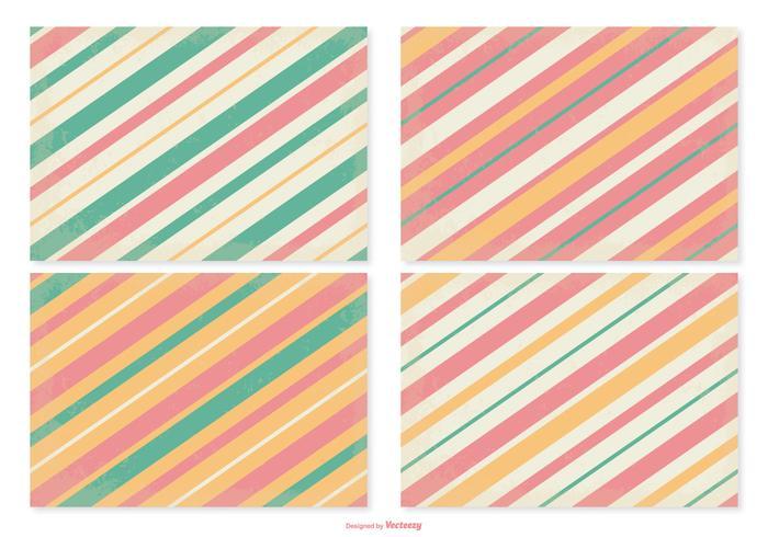 Retro Striped Pattern Set