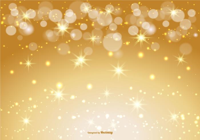 Fondo hermoso del oro Bokeh y de la chispa
