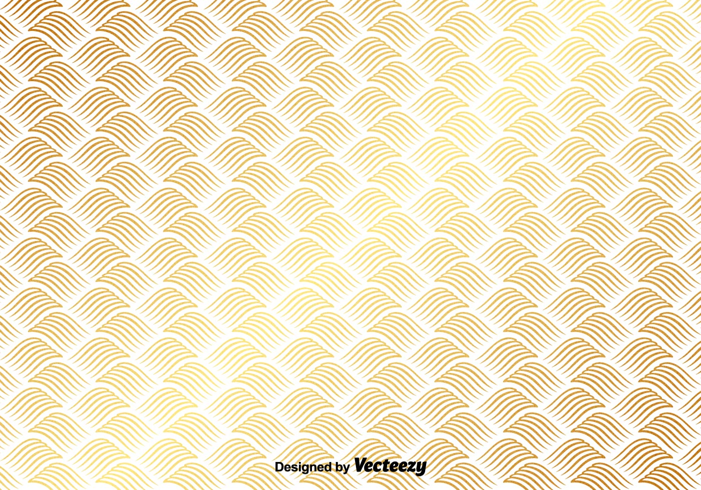 Vector Gold Pattern On White Background