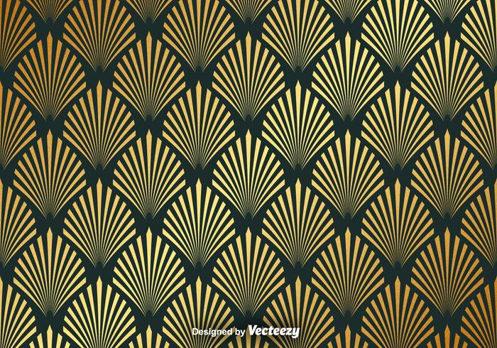 Vector Gold Seamless Pattern With Elegant Shapes