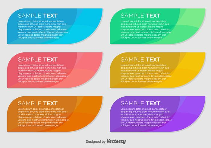 Abstract Vector Colorful Banners/Cards