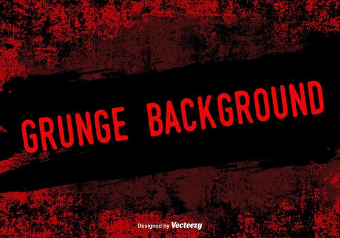 Red Grunge Vector Background