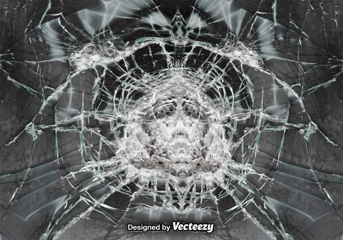 Vector Cracked Glass Realistic Background