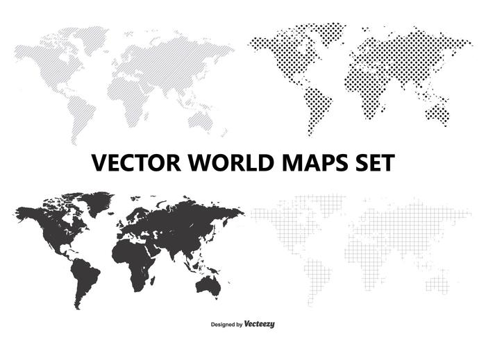 Vector World Map Set