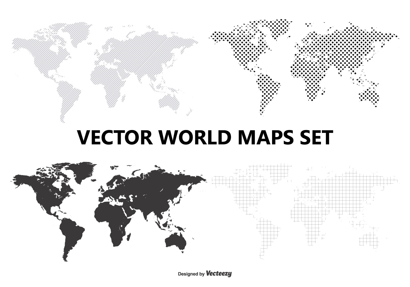 Vector world map set download free vector art stock graphics images gumiabroncs Image collections