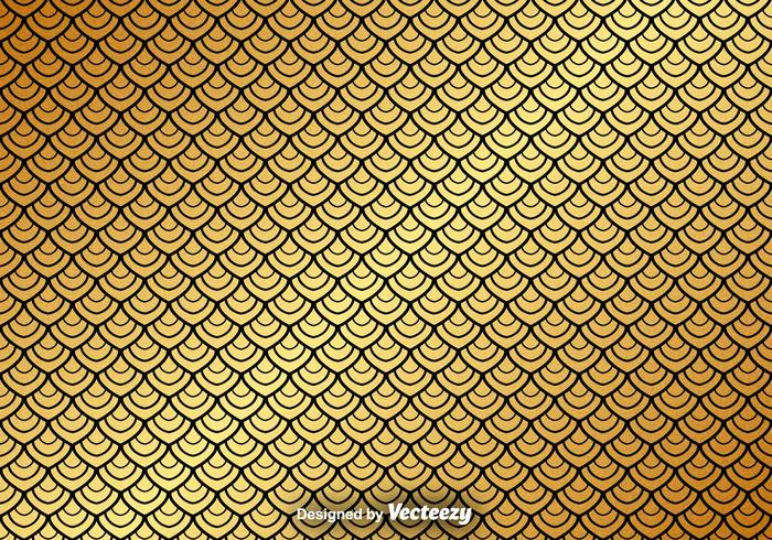 Vector Gold Seamless Pattern On Black Background
