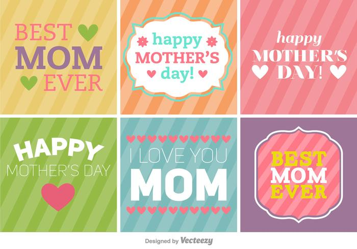 Feliz Día de la Madre Banners / Fondos vector