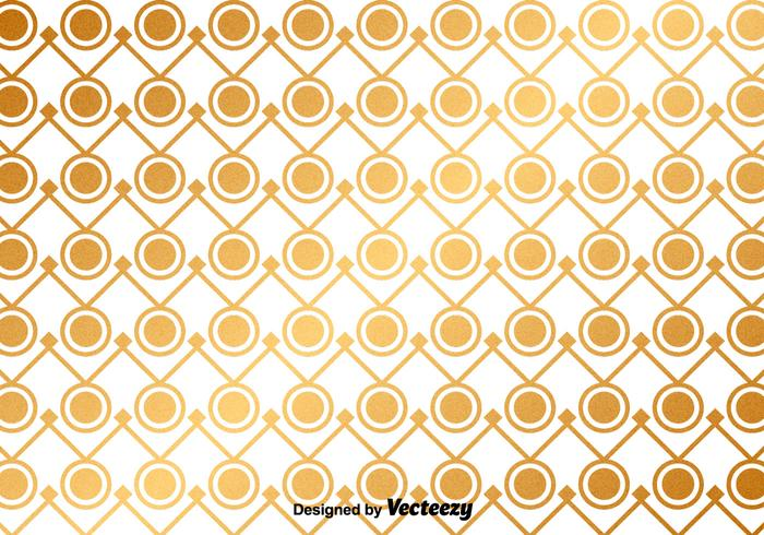 Vector Golden Abstract Pattern