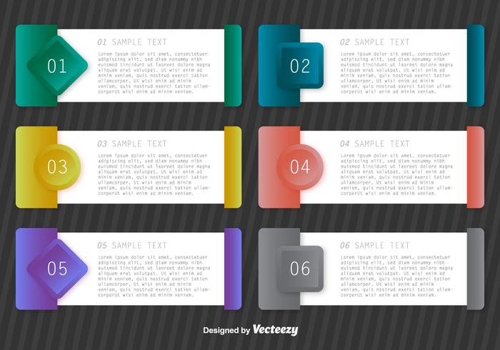 Vector Paper Progress Templates Step Banners