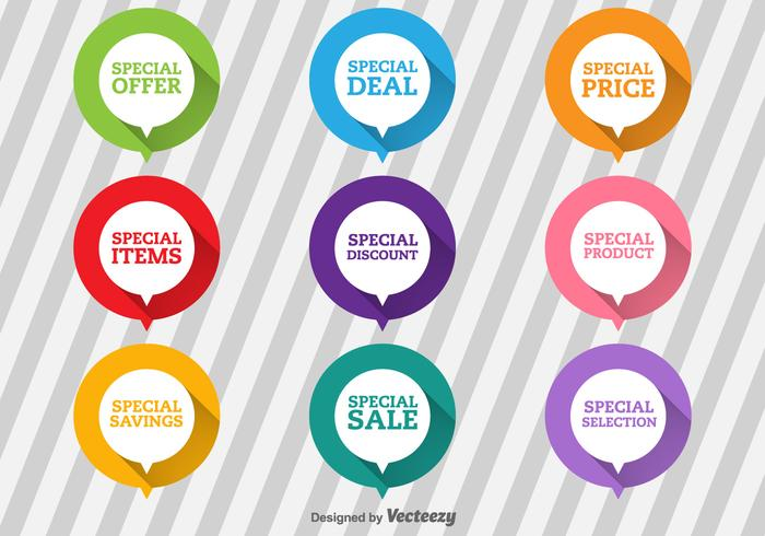 Special Offer Flat Labels