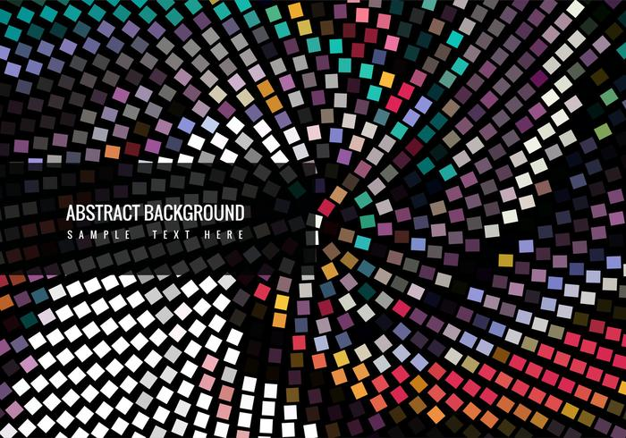 Vector Colorful Modern Mosaic Background