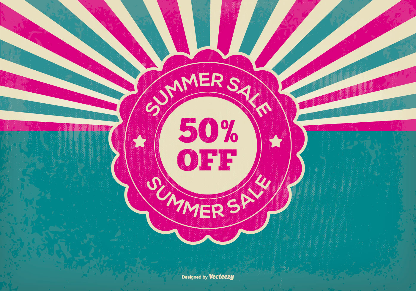 Retro Summer Sale Illustration - Download Free Vectors ...