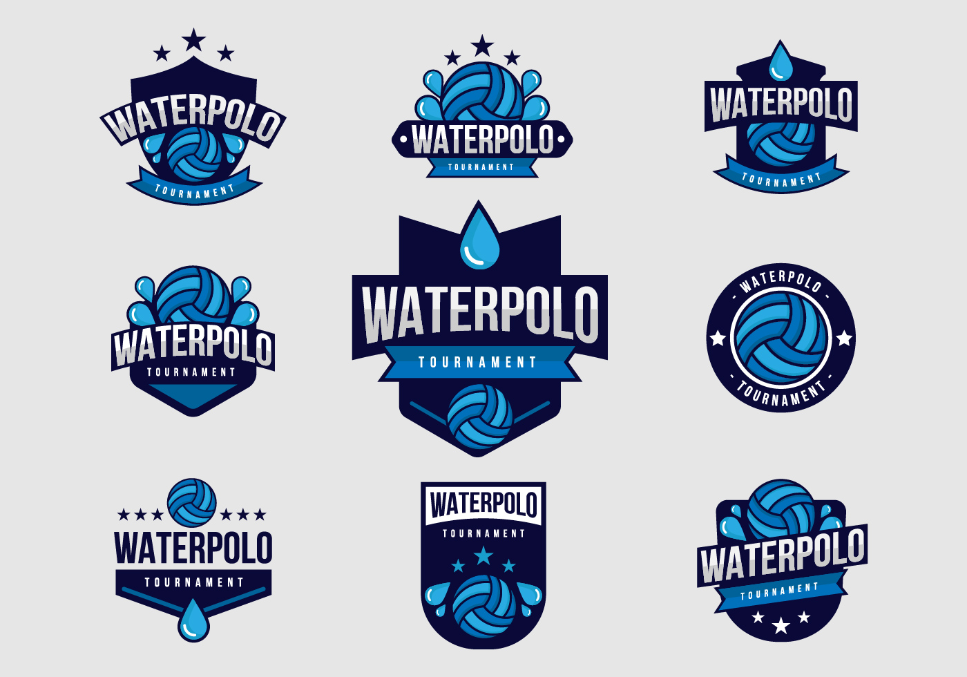Free Water Polo Badges Vector Download Free Vector Art
