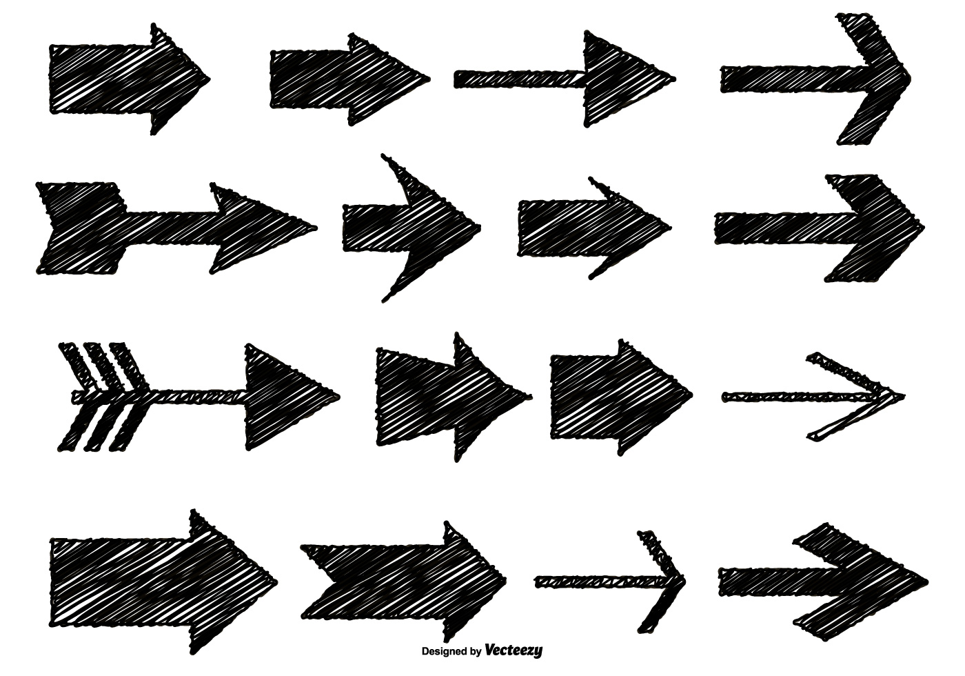Messy Sketch Style Arrows