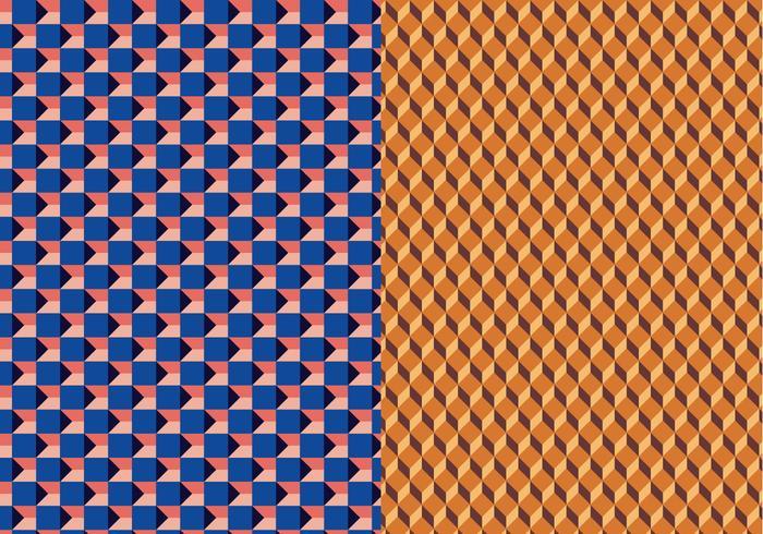 Patrón geométrico del vector 3D